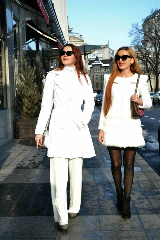 Spring, White look, White outfit, Cat eyes sunglasses