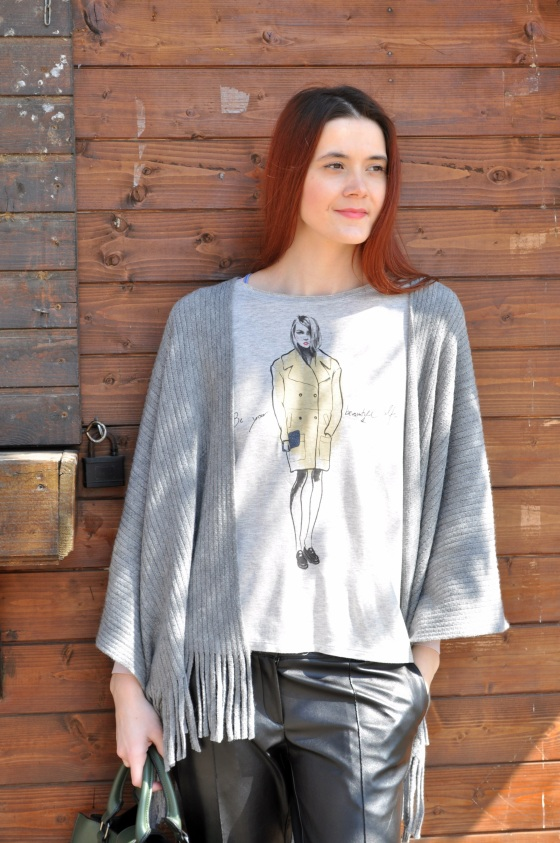 Signature by M&M, kurtmann.ro, grey outfit, be your beautiful self, T-shirt