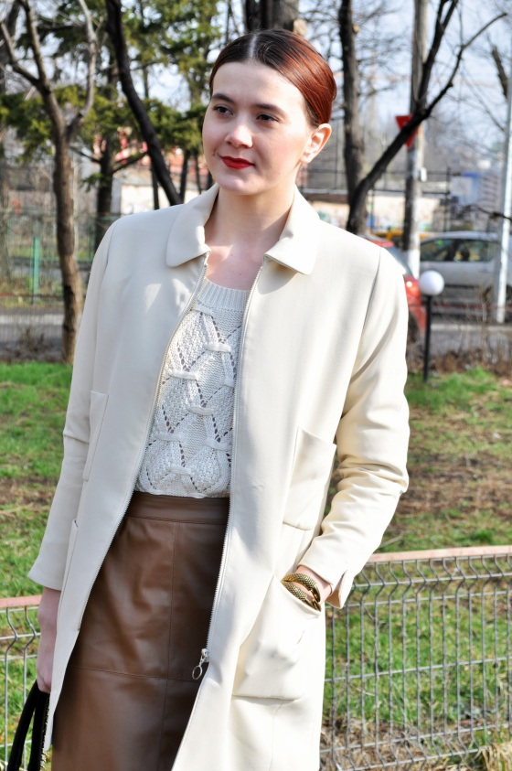 Signaturebymm, White Jacket, Brand Circus, Leather Skirt, Dika