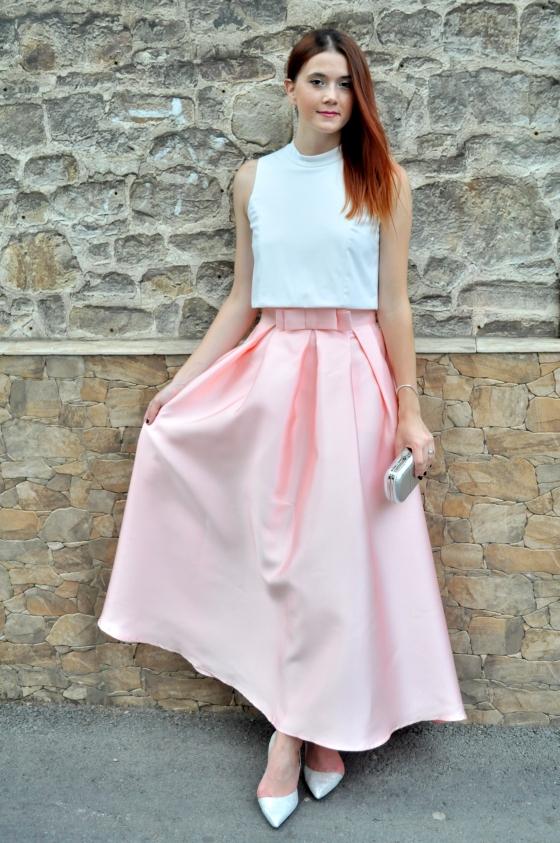 signaturebymm, signature, pink skirt, romwe, romwe skirt, princess skirt, prom skirt, fusta roz, fusta lunga, fusta de printesa