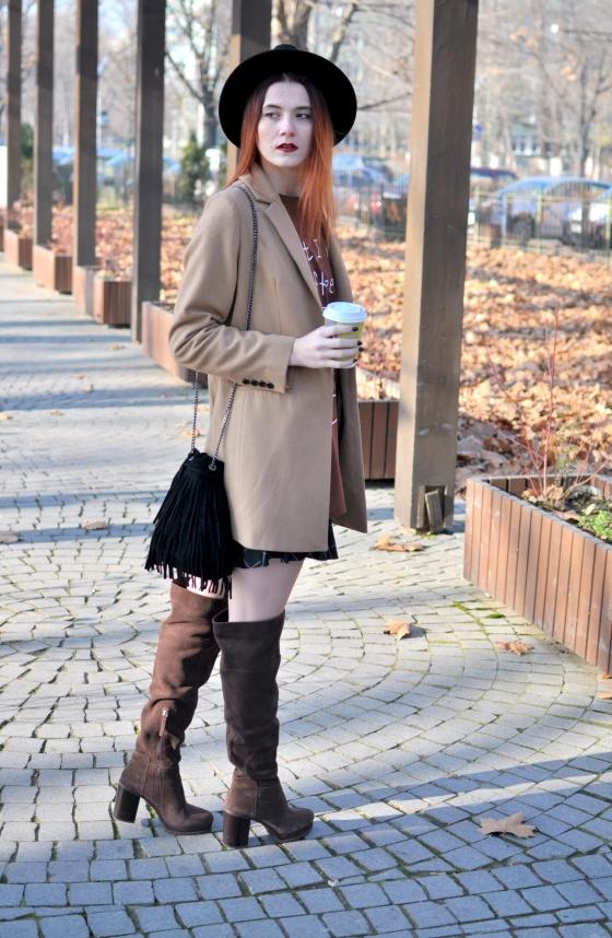 corina_mirea_romwe_coffee_dress_kurtmann_camel_coat_skirt1