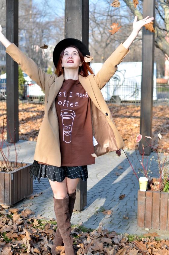 corina_mirea_romwe_coffee_dress_kurtmann_camel_coat_skirt13