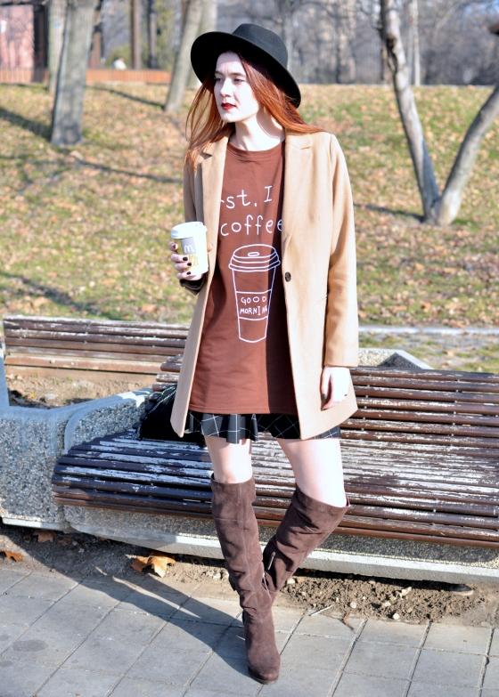 corina_mirea_romwe_coffee_dress_kurtmann_camel_coat_skirt14