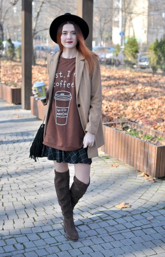corina_mirea_romwe_coffee_dress_kurtmann_camel_coat_skirt8