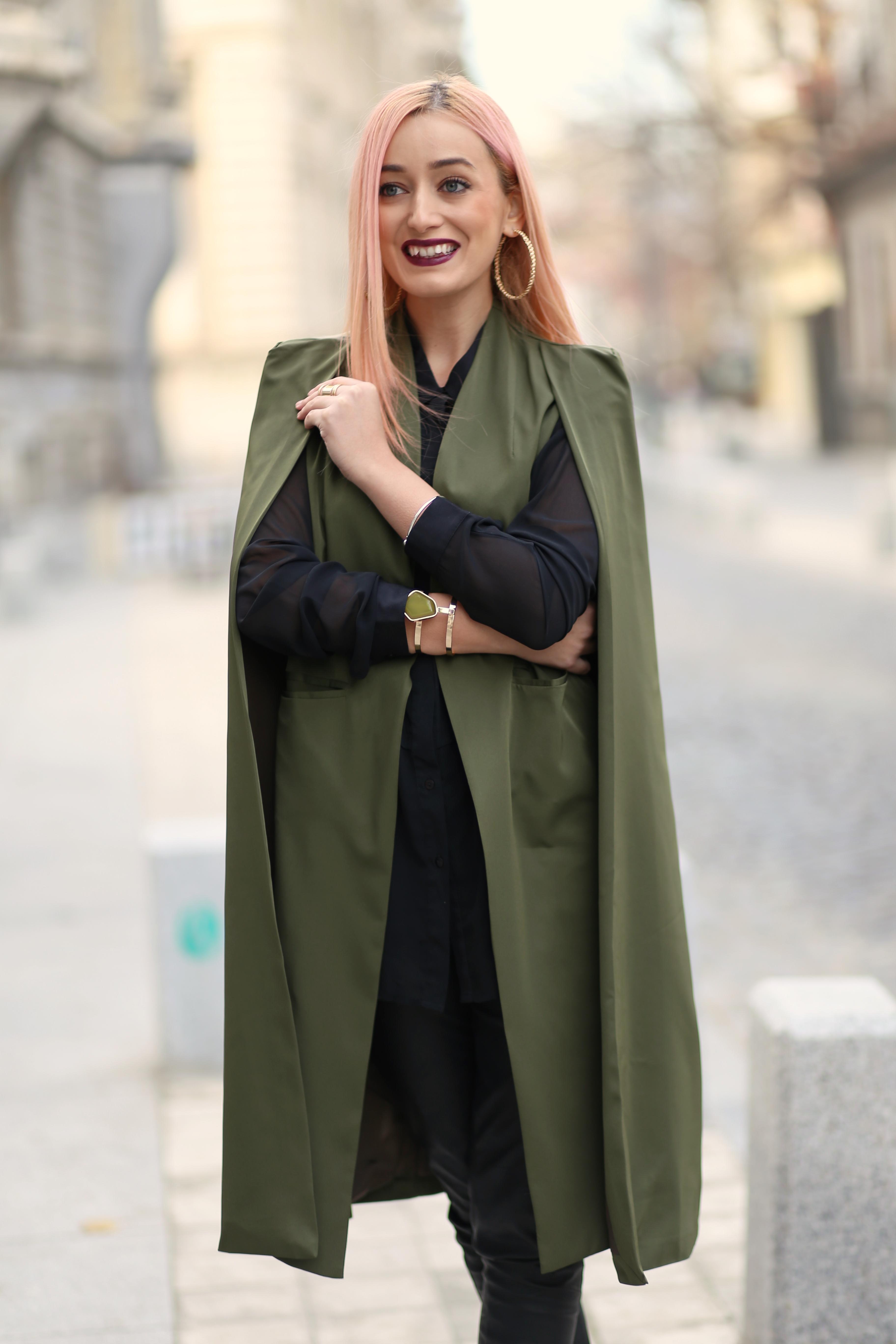 madalina misu, cum mixam stilurile, influente militare, anii 70, cum purtam capa, trenduri toamna-iarna 2016 2016, yoins capes, yoins review, ateneul roman, blog moda, fashion blog, fashion tips, signature bymm, signature by m&m
